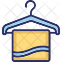 Towel Hanged Towel Bathing Icon