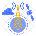 Tower Cloud Tower Antenna Icon