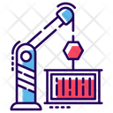 Tower Crane Material Lifter Crane Machine Icon