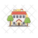Farmhouse Townhouse Hut Icon