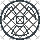 Toxic Radioactivity Symbol Icon