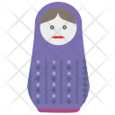 Toy Woman Matreshka Icon