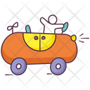 Toy Car Baby Car Clockwork Car Icon
