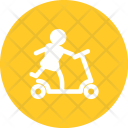 Scooter Toy On Icon