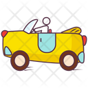 Toy Car Baby Car Hand Drawn Icon