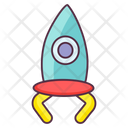 Toy Rocket Missile Projectile Icon