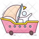 Toy Sailboat Icon