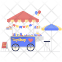 Toy Shop Plaything Cart Toy Vendor Icon