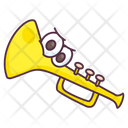 Toy Trumpet Music Instrument French Horn Icon
