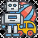 Toys Car Robot Icon