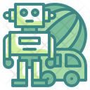 Toys Car Robot Icon