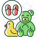 Toy Recycle Flip Flops Icon