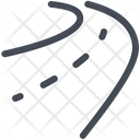 Track Drive Highway Icon