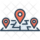 Track Address Path Icon