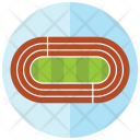 Track Race Athlete Icon