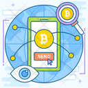 Track Bitcoin Transaction Icon