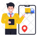 Delivery Navigation Track Delivery Online Delivery Icon