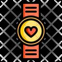 Smart Watch Track Heratbeat Track Pulse Icon