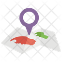 Location Map Track Location Navigation Icon