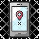Track Location Track Criminal Smartphone Location Icon