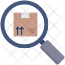 Cardboard Magnifying Glass Icon