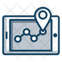 Track Route Mobile Location Pinpointer Icon