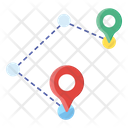 Track Route Way Journey Icon