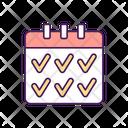 Addiction Calendar Date Icon