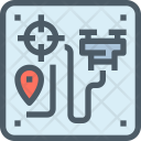 Tracking Drone Device Icon