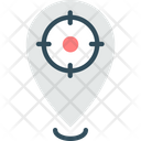 Tracking System Place Focus Pin Icon