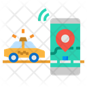Tracking Taxi Icon