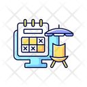 Tracking Vacation Time Icon