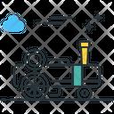 Traction Engine Steam Engine Motor Icon
