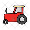 Tractor Agricultural Machinery Farmer Truck Icon