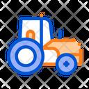 Farmland Tractor Vehicle Icon
