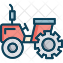 Tractorm Tractor Agricultural Transportation Icon