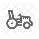 Machine Tractor Industry Icon