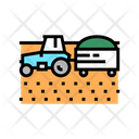 Tractor Harvest Field Icon