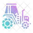 Tractor Harvest Agriculture Icon