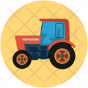 Tractor Truck Construction Icon