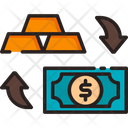 Trade Exchange Gold Icon