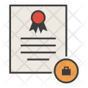 Trade Travel Certificate Icon
