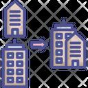 Trade Center Business Collaborate Icon