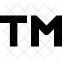 Trademark Sign Icon