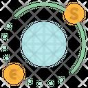 Trading Globe Euro Icon