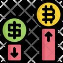 Chart Bar Bitcoin Icon