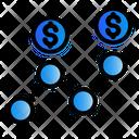 Digital Marketing Money Trading Icon