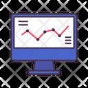 Trading Computer Graph Icon