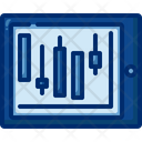 Trading In Tablet Online Trading Candlestick Icon