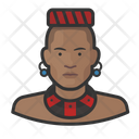Traditional African Man Avatar User Icon